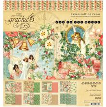 Graphic 45 Double-Sided Paper Pad 8X8 24/Pkg - Joy To The World