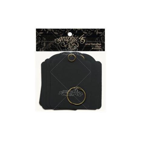 Graphic 45 Staples Artist Trading Tag Album 3.5X2.5 - Black