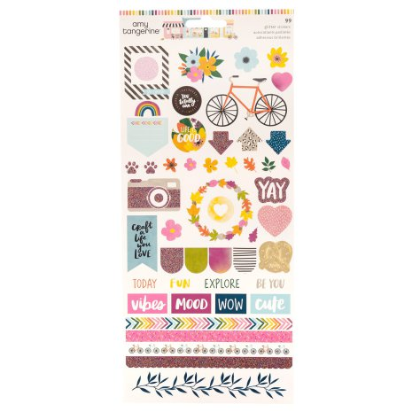 Amy Tangerine Cardstock Stickers - Slice of Life