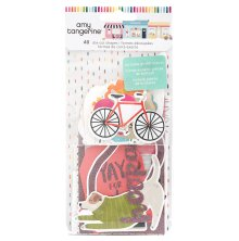 Amy Tangerine Ephemera Cardstock Die Cuts - Slice of Life