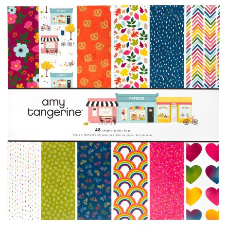 Amy Tangerine Single-Sided Paper Pad 12X12  - Slice of Life
