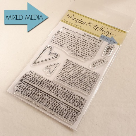 hÄnglar & Wings Clear Stamps - Bakgrundstext