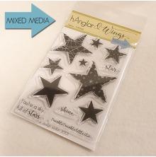 hÄnglar & Wings Clear Stamps - Stjärnor