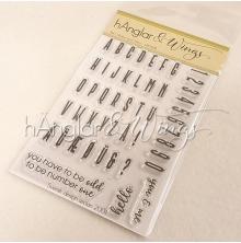 hÄnglar & Wings Clear Stamps - Rakt Alfabet med Siffror