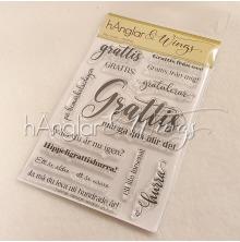 hÄnglar & Wings Clear Stamps - Mer Grattis