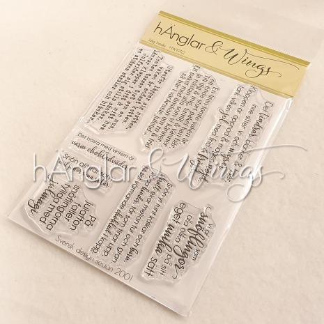 hÄnglar & Wings Clear Stamps - Julig Insida