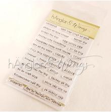 hÄnglar & Wings Clear Stamps - Skrivmaskin