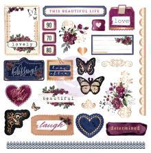 Prima Cardstock Ephemera & Stickers 126/Pkg - Darcelle