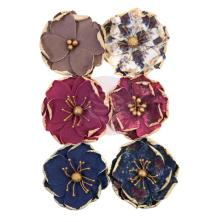 Prima Darcelle Mulberry Paper Flowers 6/Pkg - Worn Elements