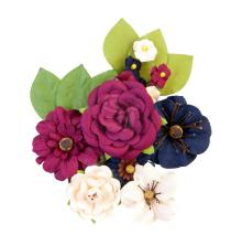 Prima Darcelle Mulberry Paper Flowers 12/Pkg - Recollections