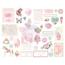 Prima Chipboard Stickers 28/Pkg - Dulce