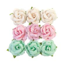 Prima Dulce Mulberry Paper Flowers 9/Pkg - Fluffy Candy