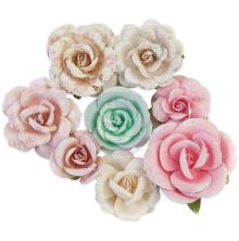 Prima Dulce Mulberry Paper Flowers 8/Pkg - Fairy Dust
