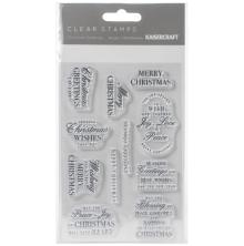 Kaisercraft Clear Stamp 6X4 - Christmas Greetings
