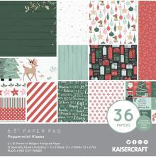 Kaisercraft Paper Pad 6.5X6.5 40/Pkg - Peppermint Kisses