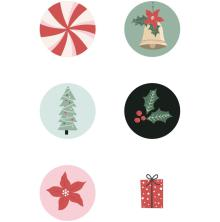 Kaisercraft Curios 6/Pkg - Peppermint Kisses