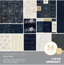 Kaisercraft Paper Pad 6.5X6.5 40/Pkg - Starry Night