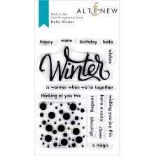 Altenew Clear Stamps 4X6 - Hello Winter