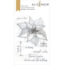 Altenew Clear Stamps 4X6 - Modern Poinsettia