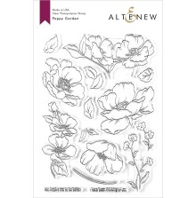 Altenew Clear Stamps 6X8 - Poppy Garden