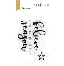 Altenew Clear Stamps 2X3 - Believe