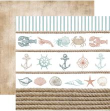 Kaisercraft Uncharted Waters Double-Sided Cardstock 12X12 - Sea Shore