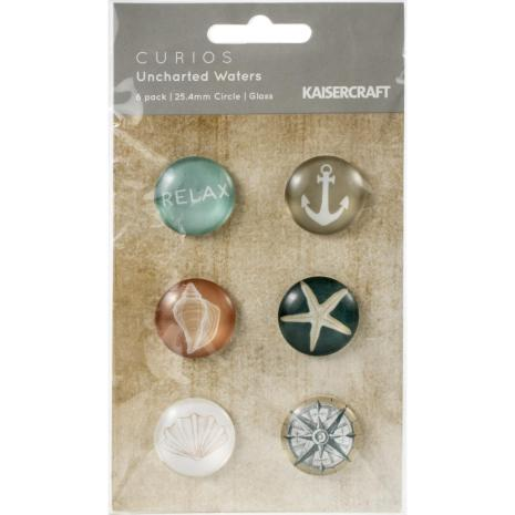 Kaisercraft Curios 6/Pkg - Uncharted Waters
