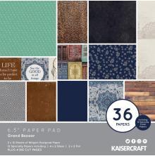 Kaisercraft Paper Pad 6.5X6.5 40/Pkg - Grand Bazaar