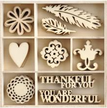 Kaisercraft Wood Mini Themed Embellishments - Grand Bazaar