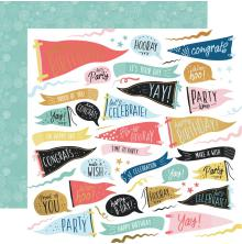 Kaisercraft Oh Happy Day! Double-Sided Cardstock 12X12 - Time to Party