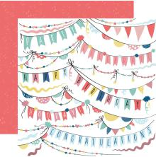 Kaisercraft Oh Happy Day! Double-Sided Cardstock 12X12 - Garlands