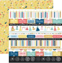 Kaisercraft Oh Happy Day! Double-Sided Cardstock 12X12 - Party Popper