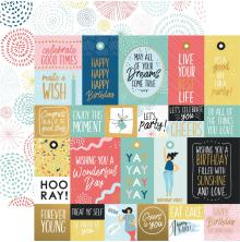 Kaisercraft Oh Happy Day! Double-Sided Cardstock 12X12 - Bright Bursts