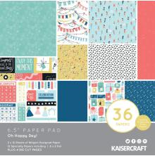 Kaisercraft Paper Pad 6.5X6.5 40/Pkg - Oh Happy Day!