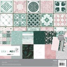 Kaisercraft Paper Pack 12X12 12/Pkg - Lily & Moss