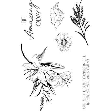 Kaisercraft Clear Stamp 6X4 - Lily & Moss