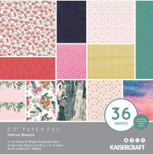 Kaisercraft Paper Pad 6.5X6.5 40/Pkg - Native Breeze