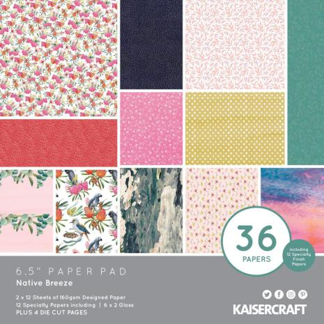 Kaisercraft Paper Pad 6.5X6.5 40/Pkg - Native Breeze