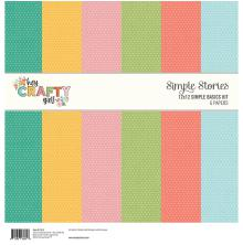 Simple Stories Basics Paper Pack 12X12 6/Pkg - Hey, Crafty Girl