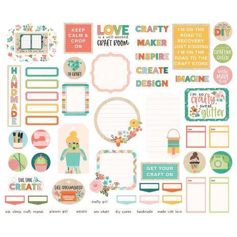 Simple Stories Bits & Pieces Die-Cuts 56/Pkg - Hey, Crafty Girl Journal