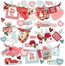 Simple Stories Simple Vintage My Valentine Cardstock Stickers 12X12 - Banners