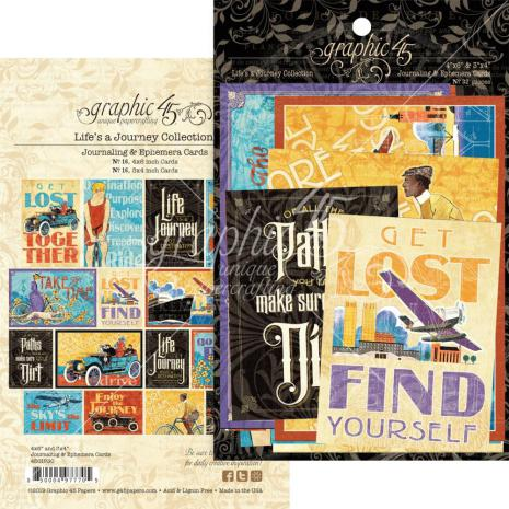 Graphic 45 Ephemera Cards - Life is A Journey