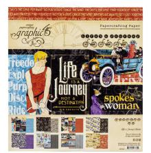Graphic 45 Double-Sided Paper Pad 8X8 24/Pkg - Life is A Journey