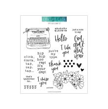 Concord & 9th Clear Stamps 6X6 - Type Talk