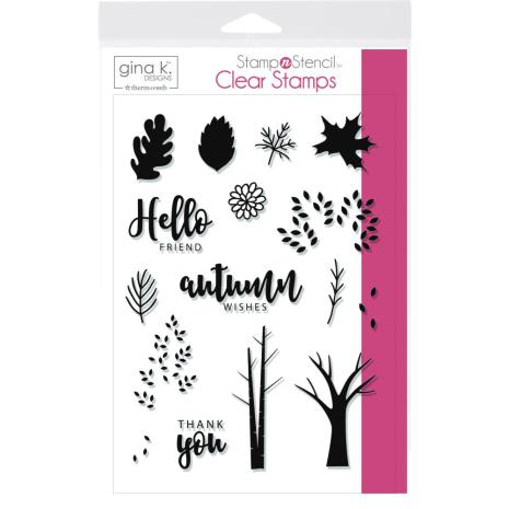 Gina K Designs Stamp Set - Autumn Wishes