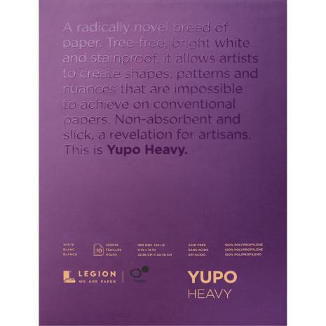 Yupo Heavy Pads 9X12 10 Sheets/Pkg - White 390gsm