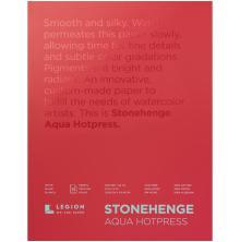 Stonehenge Aqua Block Hotpress Pad 9X12 15 Sheets/Pkg - White 300gsm