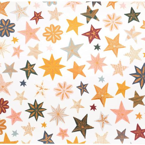Crate Paper Snowflake Double-Sided Foiled Cardstock 12X12 - Joyous