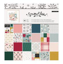 Crate Paper Single-Sided Paper Pad 12X12 48/Pkg - Snowflake