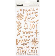 Crate Paper Snowflake Thickers Stickers 5.5X11 89/Pkg - Chill Phrase & Icons